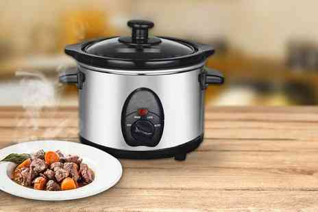 direct2publik - 1.5 litre stainless steel slow cooker - Save 66%