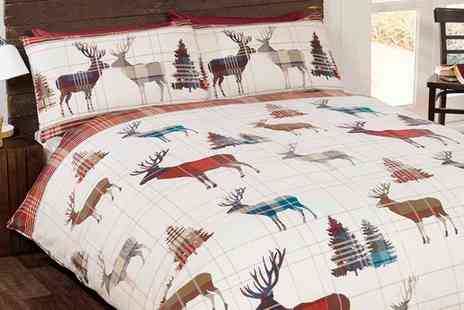 Groupon Goods Global GmbH - Woodland Stag Duvet Set in Choice of Size and Colour - Save 0%