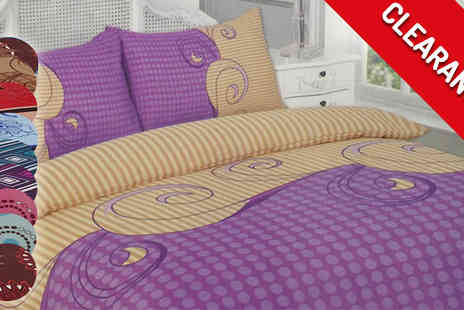 The Fashion City - Patterned Duvet Sets in 5 Designs - Save 50%