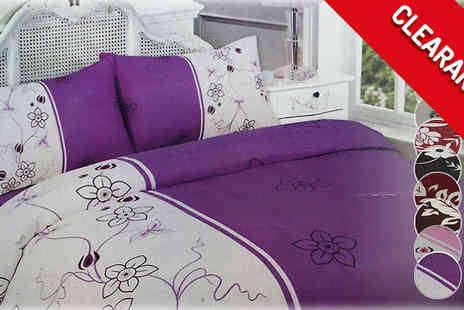 The Fashion City - Floral Duvet Sets in 3 Sizes and 5 Designs - Save 0%