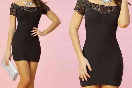 The Fashion City - Black Lace Dress - Save 35%
