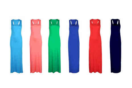 The Fashion City - Racer Back Maxi Dress in 11 colours - Save 73%