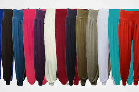 The Fashion City - Long Length Harem Trousers - Save 70%
