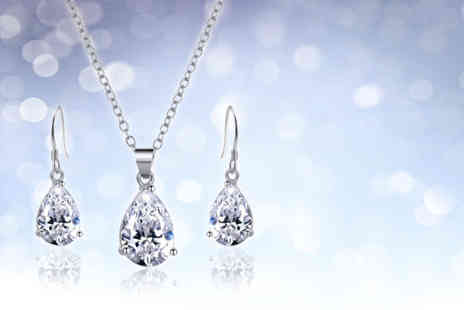 My Boutique Store - Tear drop necklace and earrings duo set - Save 84%