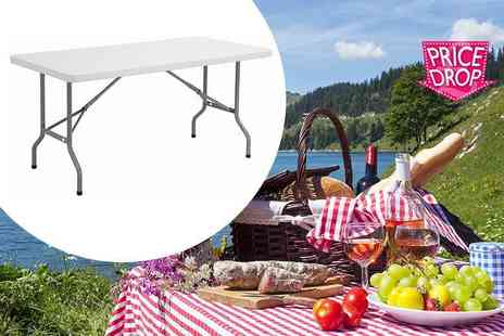 Product Mania - Six foot outdoor folding table - Save 71%