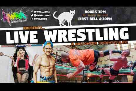 New Wave Wrestling Alliance - Halloween family ticket to see a live match of Nine Lives on the 29th October - Save 70%