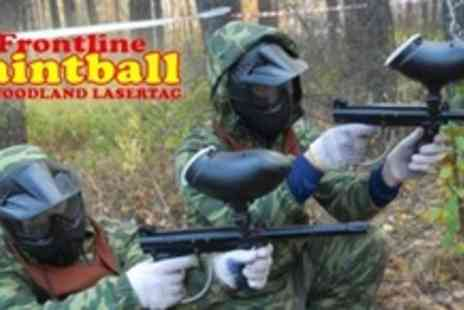 Frontline Paintball - Paintballing For Four With 100 Paintballs Each - Save 73%