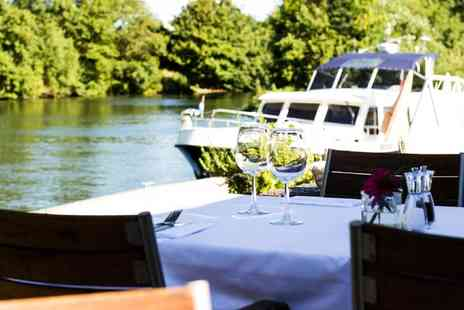 Riverside Brasserie - Three Course Dinner and Champagne Cocktail for Up to Four - Save 54%