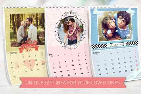 Ecolorland - Up to Five Personalized A3 Portrait Photo Calendars - Save 0%