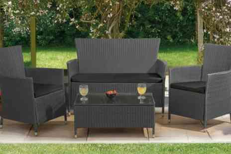 Groupon Goods Global GmbH - St Lucia Four Piece Rattan Effect Set With Free Delivery - Save 63%