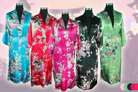 Globi Toys - Flower Pattern Kimono Robe in 6 colours - Save 79%