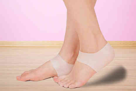 Pretty Essential - 1, 2 or 3 Pairs of Silicone Gel Heel & Ankle Sleeves - Save 75%