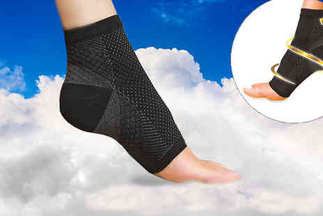 Pretty Essential - Seven Point Foot Angel Compression Sock - Save 76%