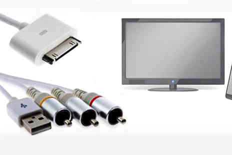Pretty Essential - 30 Pin AV Cable for compatible with iPad 2/3 and iPhone 3GS/4S - Save 80%