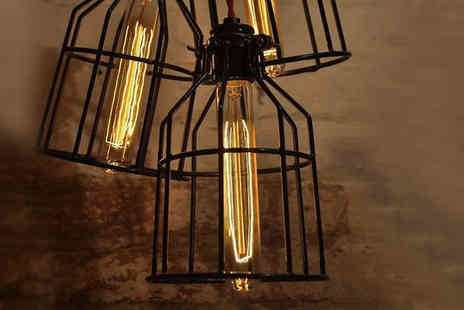 Last Chance Supplies - Vintage Industrial Effect Light Bulb Pendant Guard - Save 68%