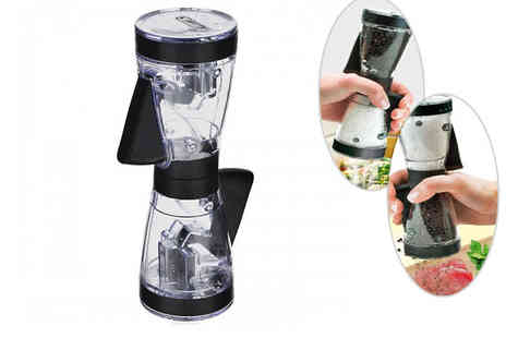 eBuzz - Dual Action Salt and Pepper Grinder - Save 70%