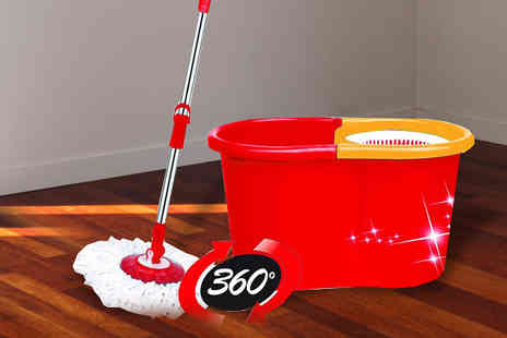 eBuzz - Spinning Mop with Dual Buckets and Two Heads - Save 57%