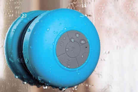 eBuzz - Bluetooth Shower Speaker Available in Two Colours - Save 60%