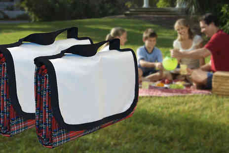eBuzz - Two Waterproof Picnic Rugs - Save 53%