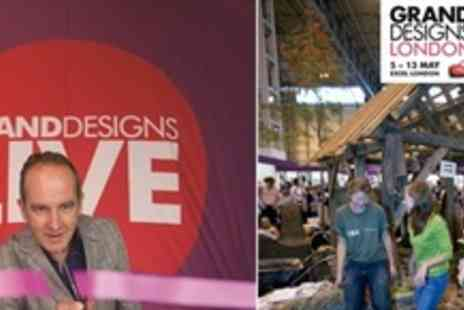 Grand Designs - Grand Designs Live at London Excel on 5th to 13th May 2 Tickets with free child entry - Save 56%