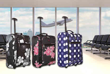 Sunrise Bags - Cabin approved hand luggage suitcase choose from five designs - Save 0%