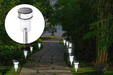 Chimp Electronics - 10 solar powered LED stake lights - Save 67%