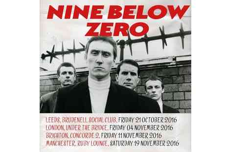 NINE BELOW ZERO - One Ticket to Nine Below Zero Concert - Save 33%