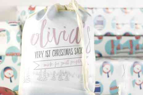 Prints with feelings - One, Two or Three Personalised Mini Santa Sacks - Save 67%