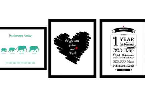 Personalised Football Gifts - Personalised Prints in Choice of Design - Save 67%
