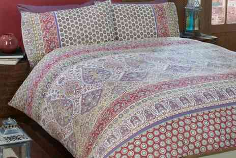 Groupon Goods Global GmbH - Indian Summer Duvet Sets in Choice of Size - Save 74%
