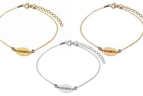 Jewells House - One, Two or Three Personalised Sterling Silver Bracelets With Free Delivery - Save 75%
