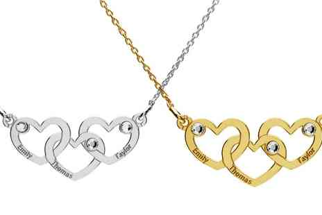 Jewells House - Up to Three Personalised Necklaces Made with Crystals from Swarovski With Free Delivery - Save 73%