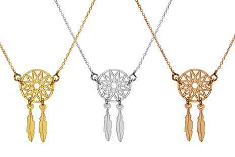 Jewells House - One, Two or Three Dream Catcher Necklace With Free Delivery - Save 69%