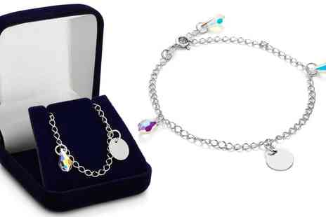 Jewells House - Personalised Bracelet with Crystals from Swarovski and Engrave With Free Delivery - Save 77%