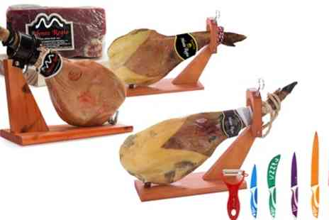 Groupon Goods Global GmbH - Serrano Ham With or Without Bone and Knife Set - Save 76%