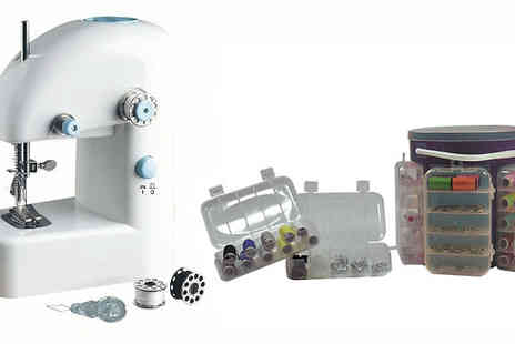 Home and Kitchen Direct - Portable Sewing Machine and Optional Sewing Kit - Save 67%