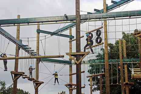 Vivary Adventure Centre - High Ropes and Outdoor Activities Package with a Hot Drink for Two or Four - Save 29%