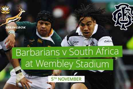 Barbarians Rugby - Barbarians v South Africa Child, Adult or Family at Wembley Stadium On Five November - Save 0%