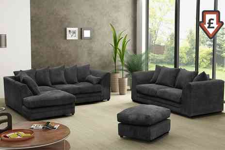 Groupon Goods Global GmbH - Milo Corner Sofa or Lounge Set With Free Delivery - Save 0%