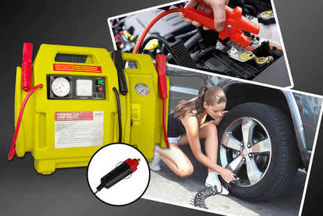 direct2publik - Car emergency kit including jump start kit and cables, air compressor and work light - Save 0%