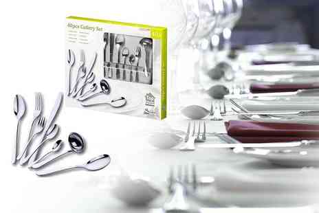Zoozio - 16, 24 or 40 piece stainless steel cutlery set - Save 76%