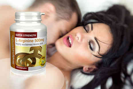 Simply Supplements - Eight month supply of L Arginine sexual enhancement capsules - Save 41%