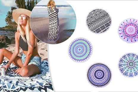 Graboom - Round Beach Towel Choose from Five Styles - Save 0%