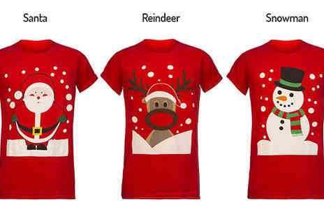 Envy Boutique - Unisex Christmas Novelty T Shirt  in 3 Designs - Save 64%