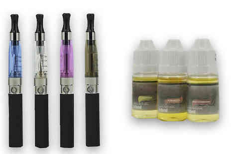 Home Decor Online - E Cigarette Kit and 3 Liquids - Save 73%