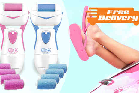 Home Decor Online - Electronic Pedi Set with 2 or 4 Roller Heads with Free Delivery - Save 0%