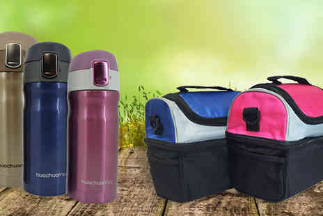 Home Decor Online - Thermal Lunch Box With Flask in 2 Colours - Save 0%