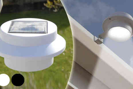 Home and Kitchen Direct - Two or Four Pack of Solar Powered Gutter Lights - Save 55%