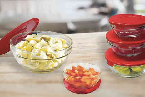Home and Kitchen Direct - Set of 5 Glass Bowls - Save 83%