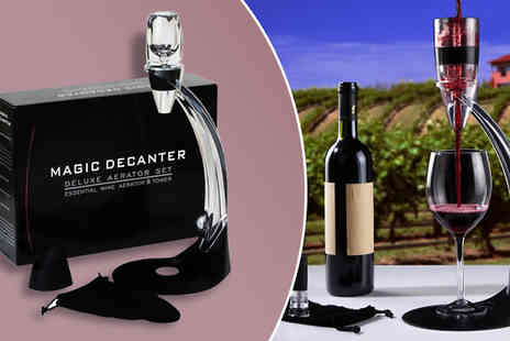 The Treasure Chest - Deluxe Wine Aerator and Decanting Gift Set - Save 64%